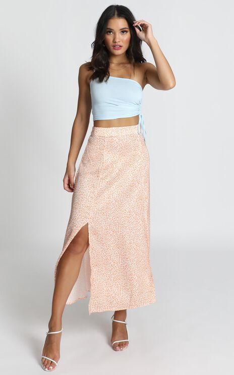 Best Believer Skirt in orange leopard print