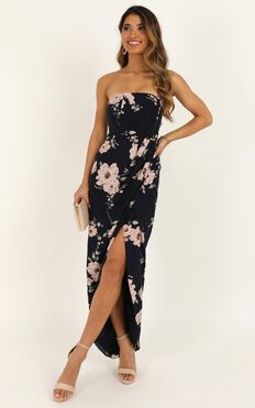Take It From The Top Dress In Navy Floral