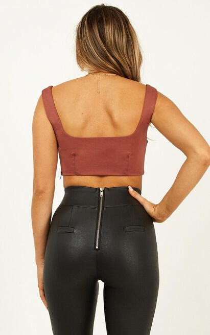 Turn Around Top in dusty rose - 20 (XXXXL), Mocha, hi-res image number null