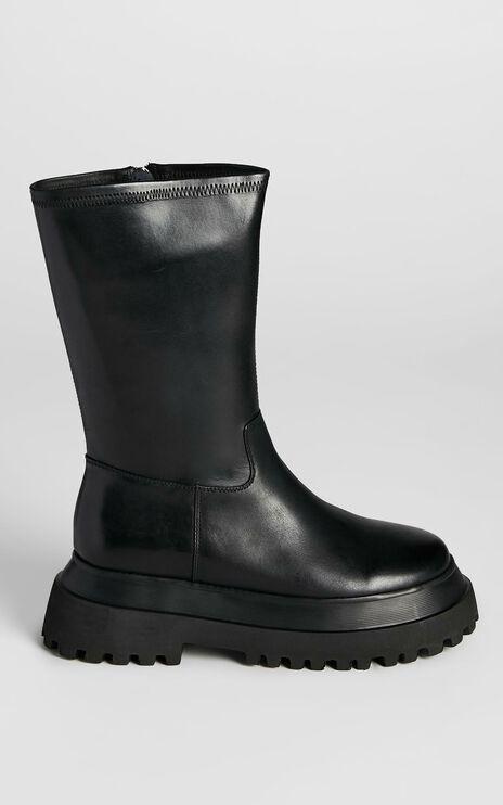 Alias Mae - Nixon Boots in Black Burnished