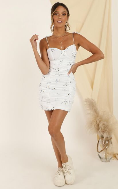 Where You Are Dress In White Floral - 14 (XL), White, hi-res image number null
