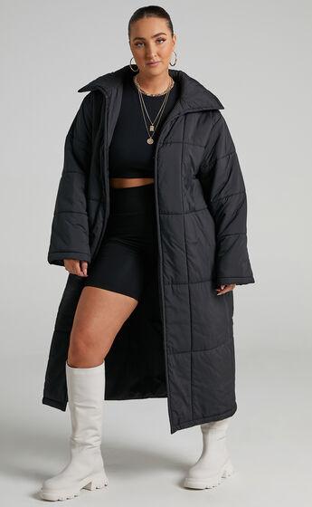 Shellie Puffer Coat in Black