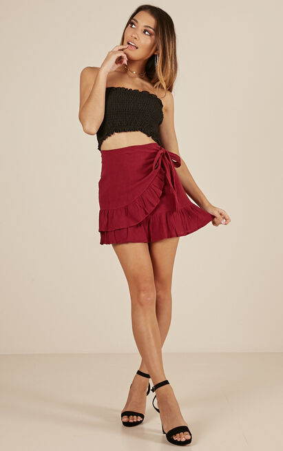 Only On Weekends skirt in wine - 12 (L), Wine, hi-res image number null