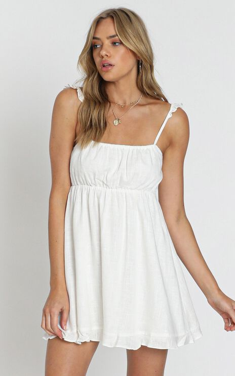 Wild Beauty Dress In White
