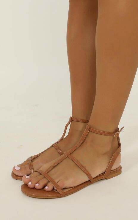Billini - Dree Sandals In Tan Croc