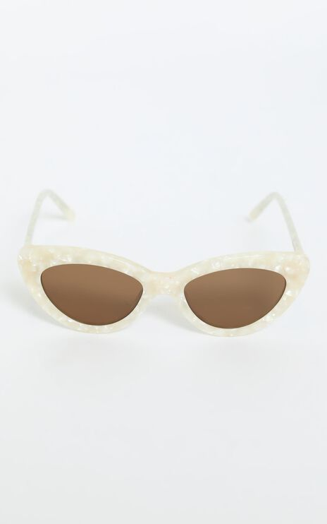 Luv Lou - The Harley Sunglasses in Pearl