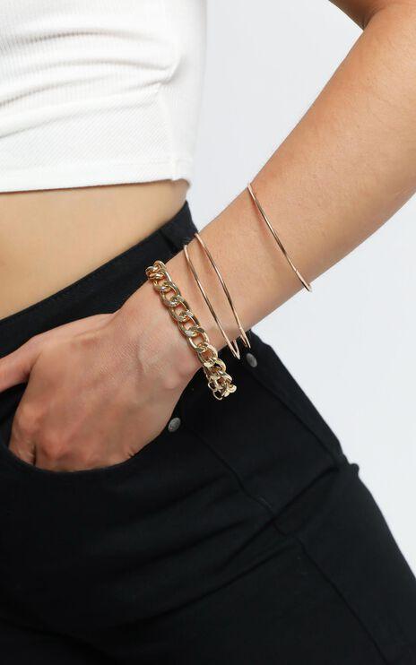 Aren Bracelet Set in Gold