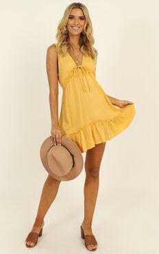 Feeling Tropical Mini Dress In Yellow