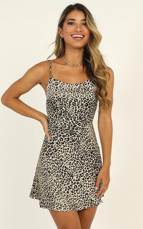 Give Me A Roar Dress In Leopard Print