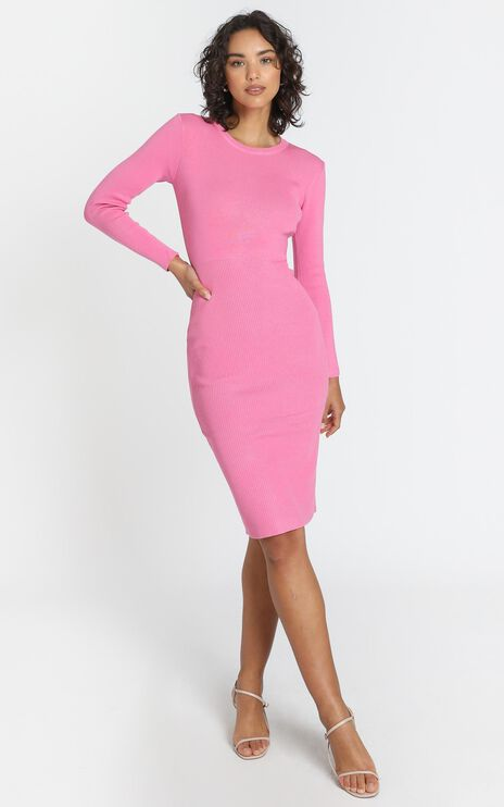 Irina Dress in Hot Pink