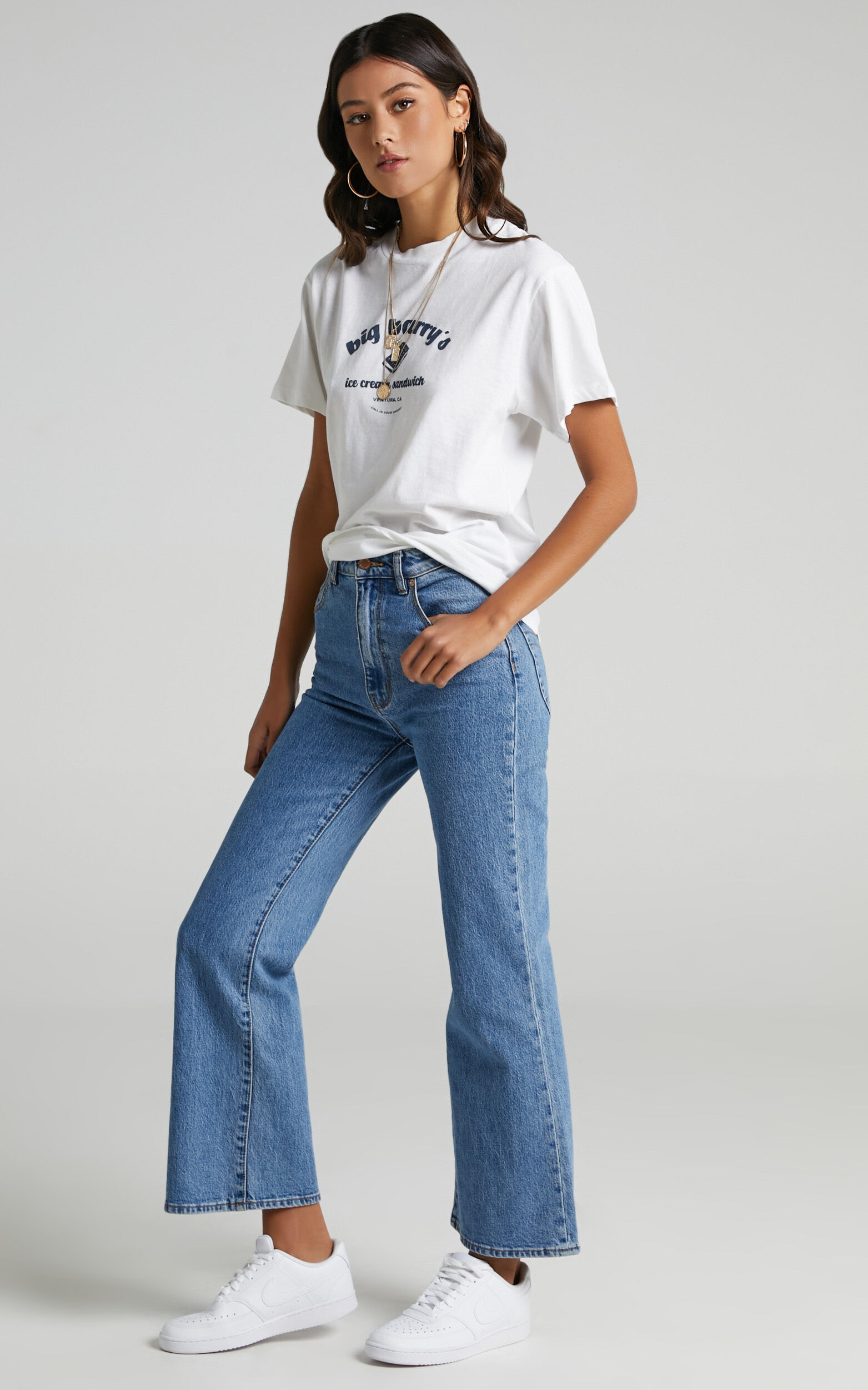 Rollas - Big Barry Tomboy Tee in White - 06, WHT1, super-hi-res image number null