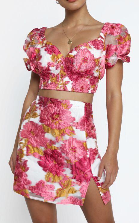 Julietta Two Piece Set in Pink Floral