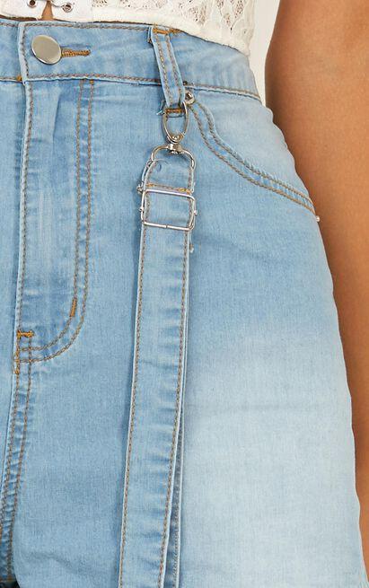 Marlee denim shorts in light wash - 12 (L), Blue, hi-res image number null