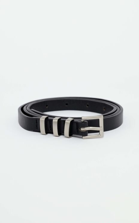 Carson Belt in Black and Silver