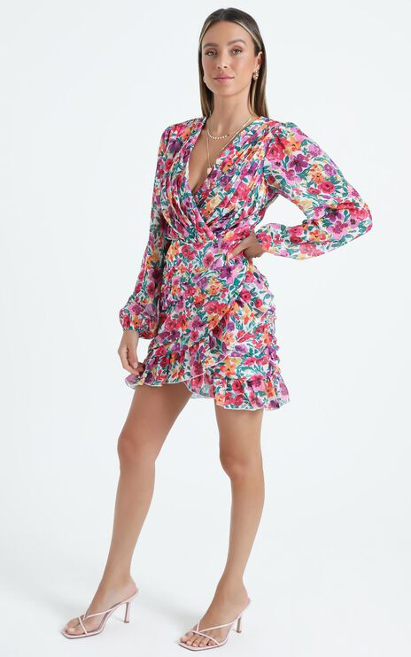 Can I Be Your Honey Dress in Packed Floral
