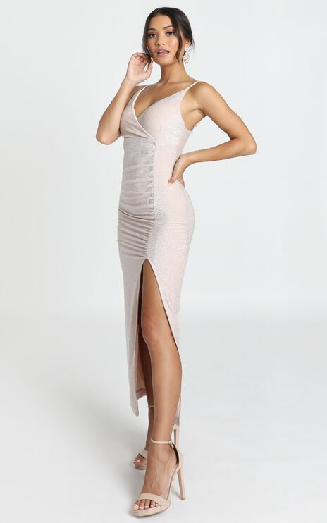 Susannah Dress In Champagne Shimmer