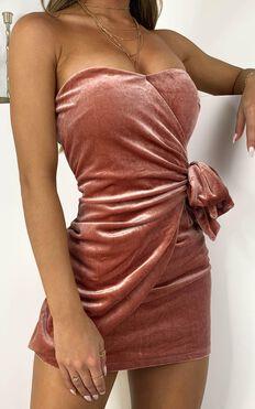 In The Fire Dress In Blush Velvet