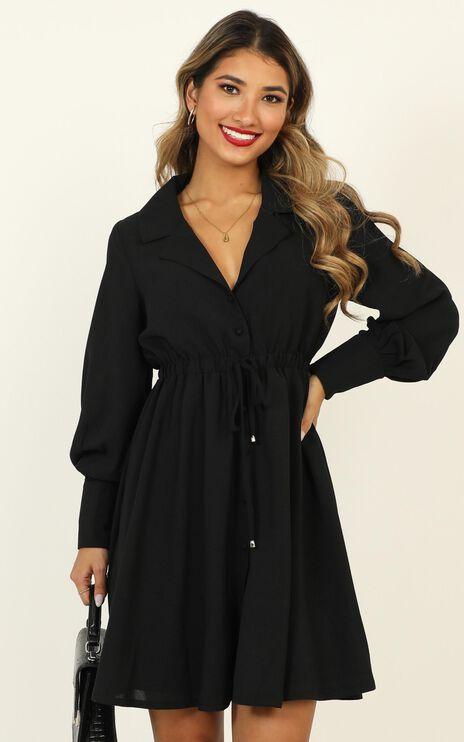 Weekly Planner Dress In Black
