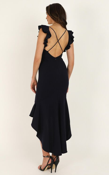 Off Timing Dress In Navy