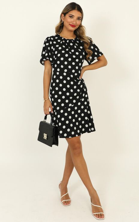 Elevated Ideas Dress In Black Spot