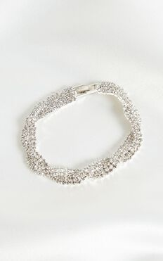 Hold The Feeling Bracelet In Silver