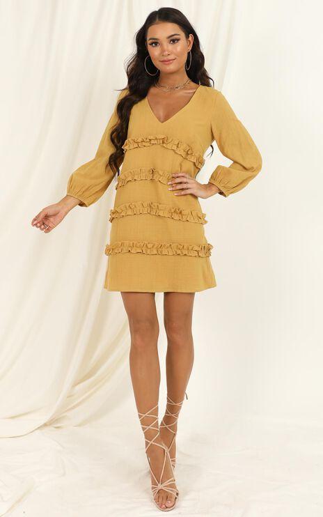 Sweetest Cheer Dress In Mustard