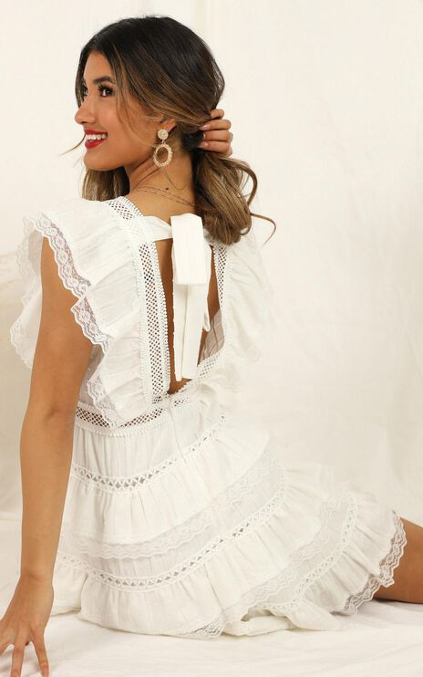 Dream For Days Dress in White Lace