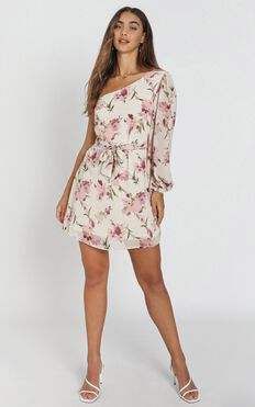 Tasha Dress In Pink Floral