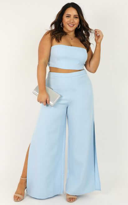 Im The One Two Piece Set in powder blue - 4 (XXS), Blue, hi-res image number null