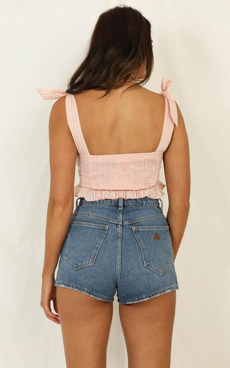 Let Your Hair Down Top In Blush Stripe