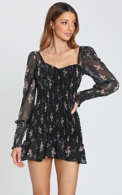 I Get the Love Dress in black floral - 8 (S), Black, hi-res image number null