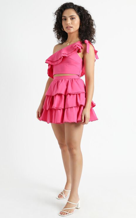 Rooftop Spritz Two Piece Set in Hot Pink