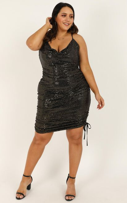 Bringing The Party Dress in black sparkle - 20 (XXXXL), Black, hi-res image number null
