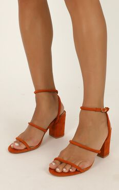Billini - Ember Heels In Burnt Ochre Micro