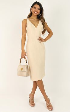Beauty And The Bow Dress In Cream