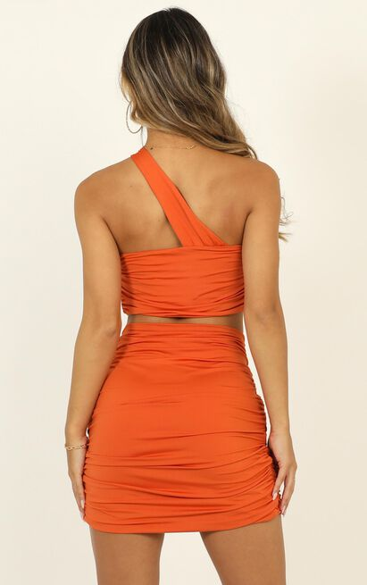 Thats How We Roll two piece set in tangerine - 12 (L), Orange, hi-res image number null