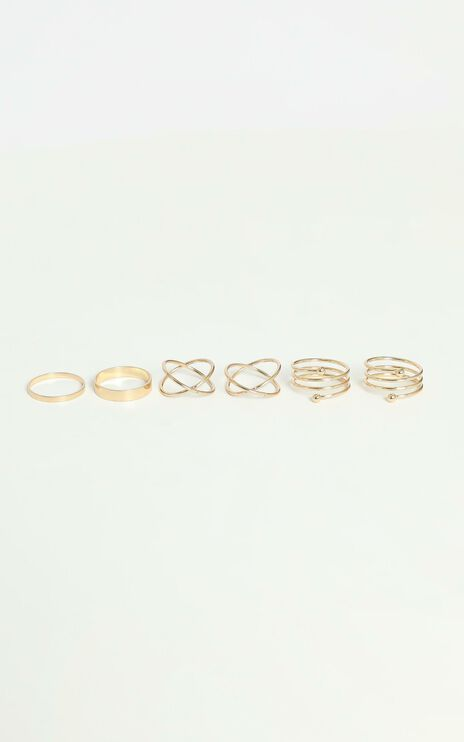 Cool and Funky Multi Ring Set in Gold