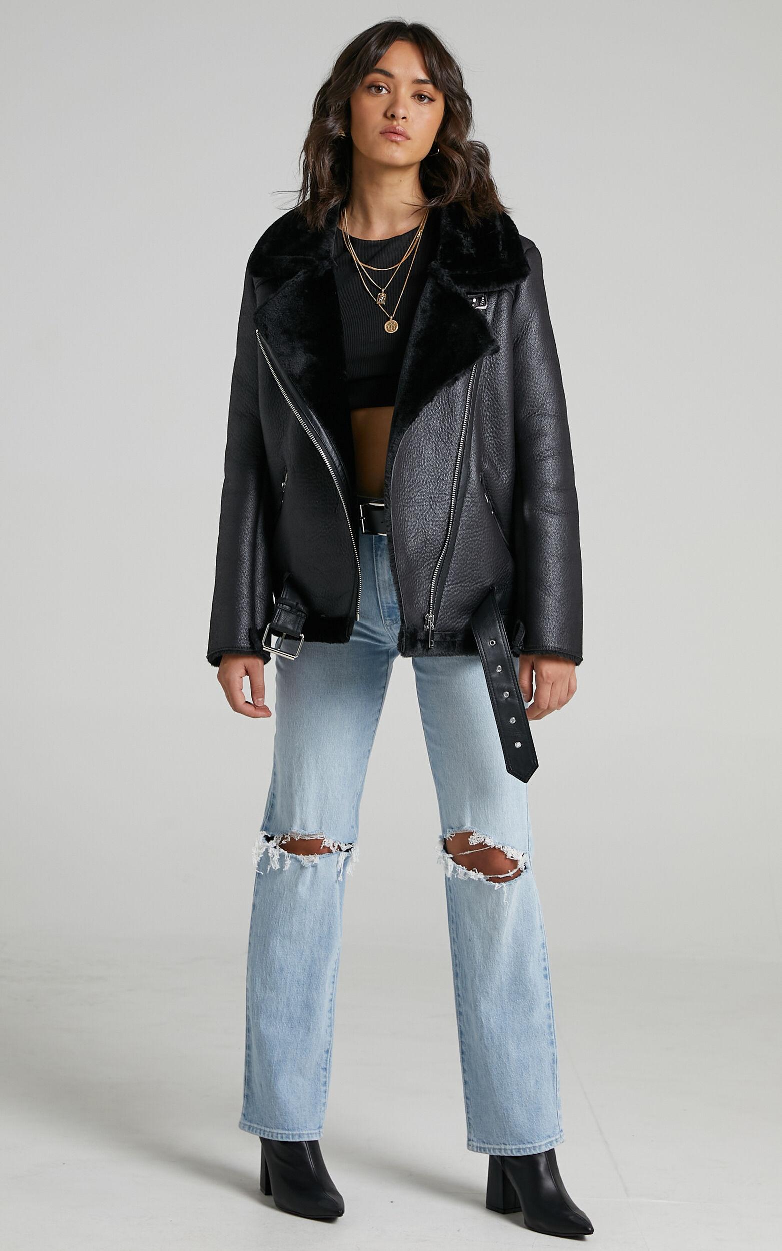 Janette Jacket in Black Leatherette - 06, BLK1, super-hi-res image number null