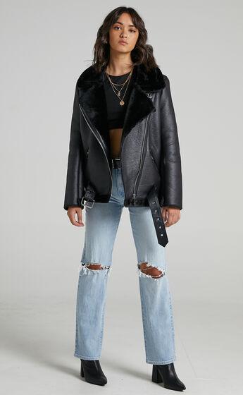 Janette Jacket in Black Leatherette
