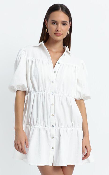Bijou Dress in White