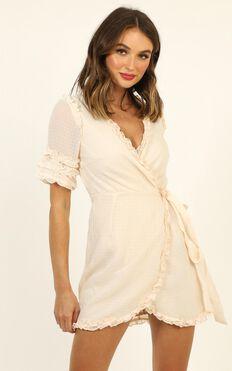 Escape To Venice Dress In Beige