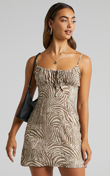 Margarita Dress in Zebra