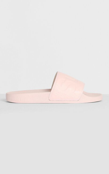 Superga - 1908 Ostrichpuu Slides in Pink Smoke
