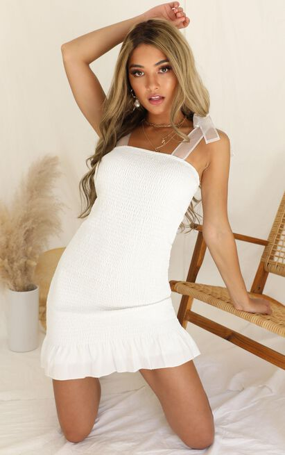 Be The Sunshine dress in white - 12 (L), White, hi-res image number null