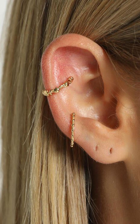 Minc Collections - Ivy Ear Cuff Set in Gold