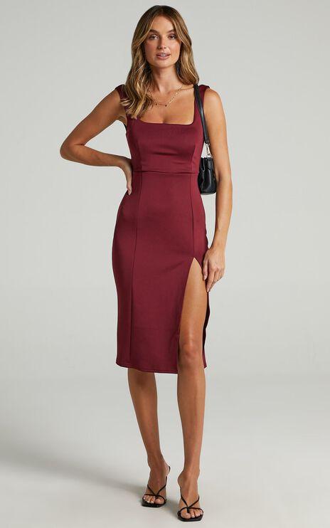 Mini Love Dress in Wine