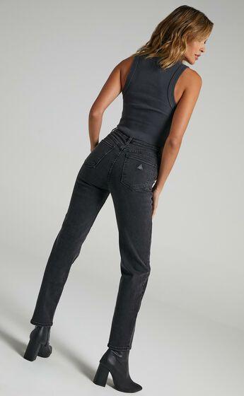 Abrand - A `94 High Slim Jeans in 90210 Black