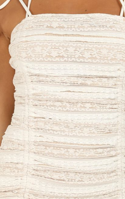 Shallow Heart Dress in white lace - 20 (XXXXL), White, hi-res image number null