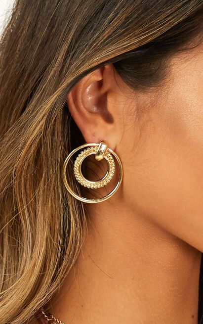 Wake Up Call Earrings In Gold, , hi-res image number null