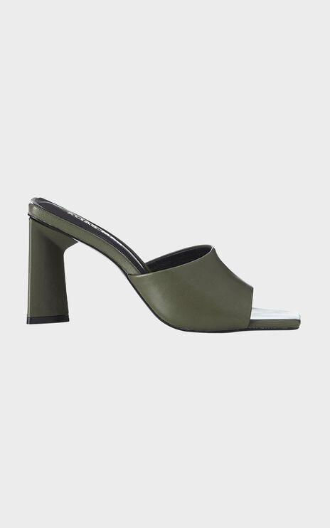 Alias Mae - Macy Heel in Olive Kid Leather